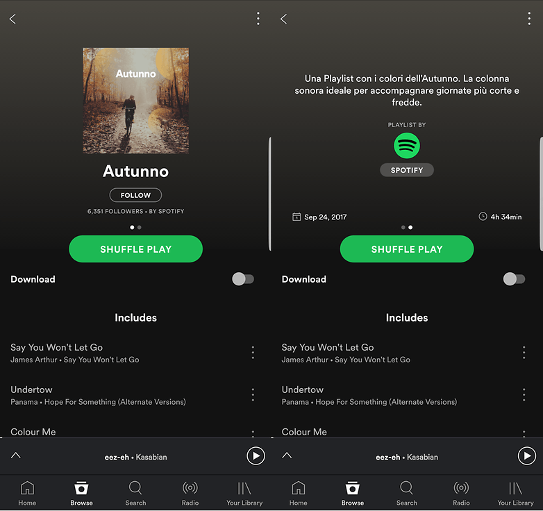 Spotify autunno 1