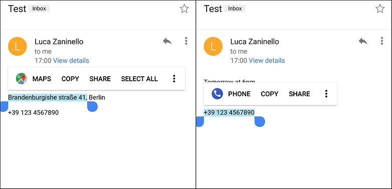 android oreo text