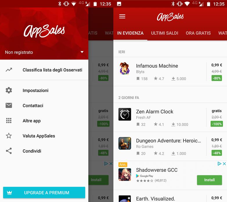 app sales screenshots