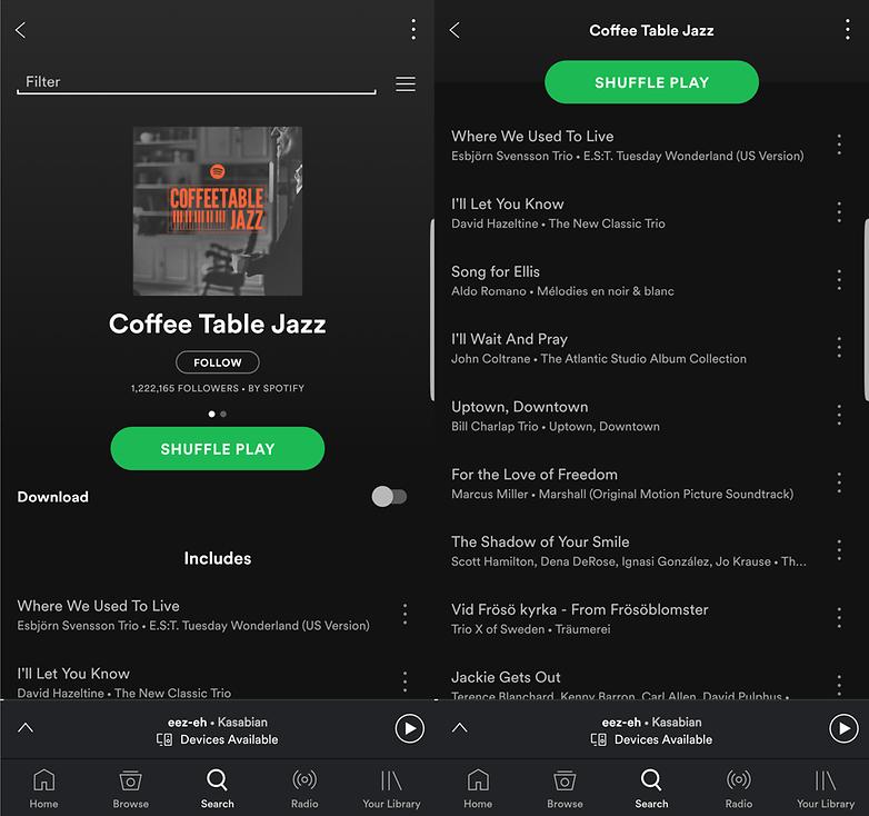 coffee table jazz spotify