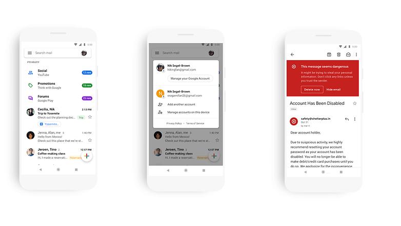 gmail new design