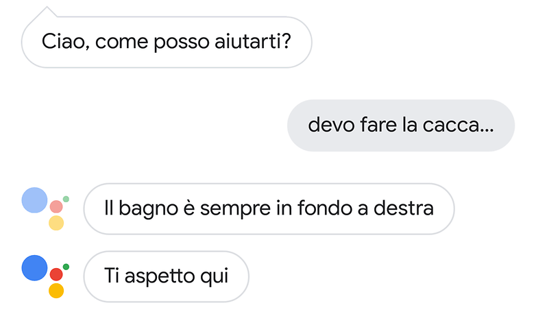 google assistant cacca