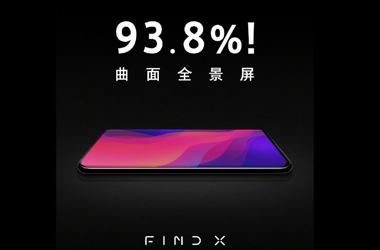 oppo find x screen to body