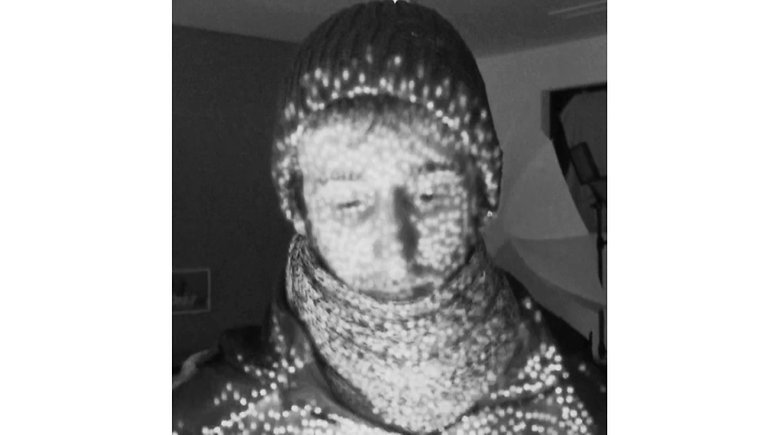 The FaceID infrared rays are pretty impressive