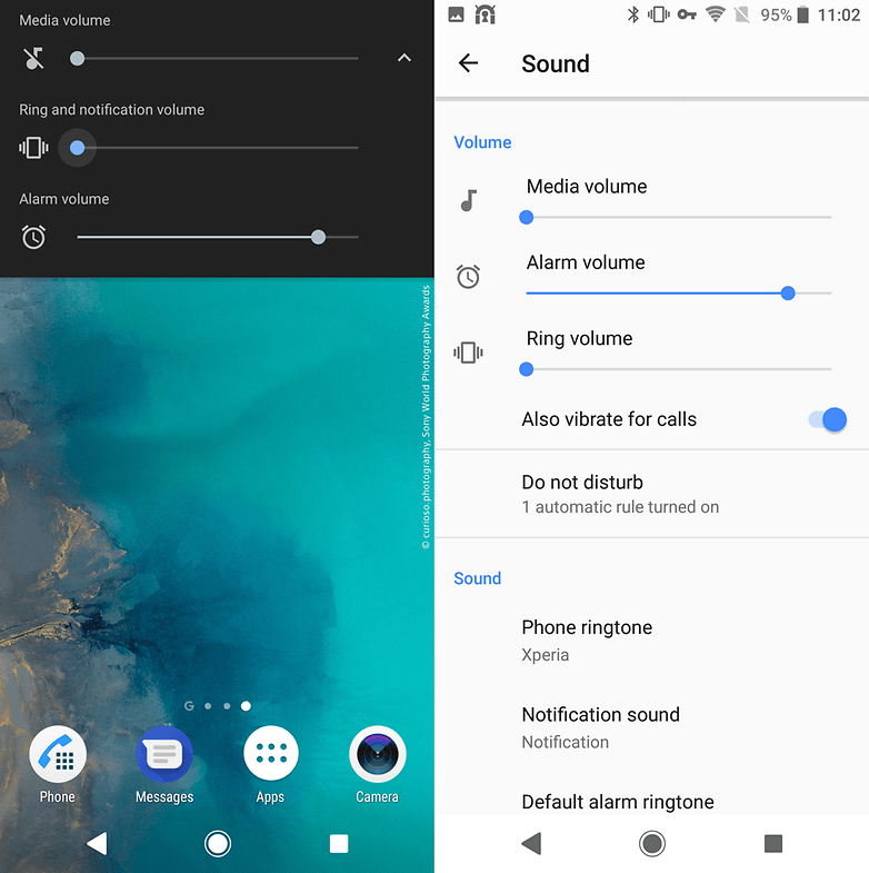 sony xperia sound settings