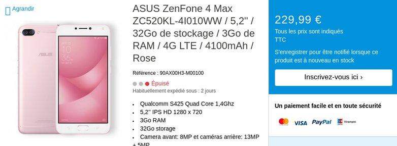 zenfone 4 max europe