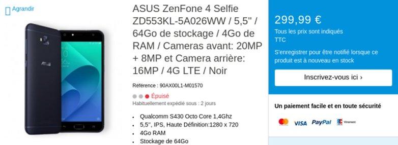 zenfone selfie price