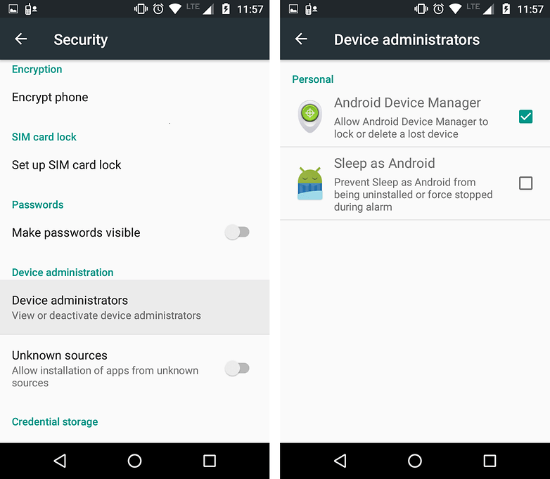 androidpit screenshot marshmallow device manager