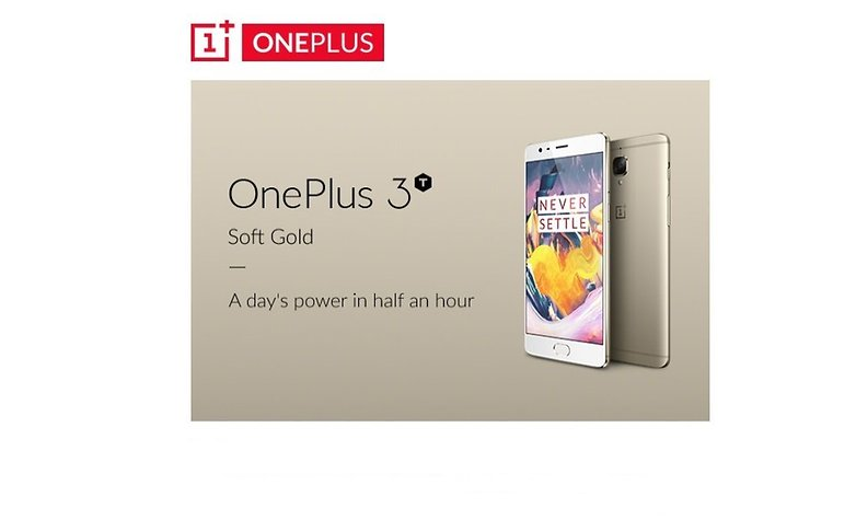 OnePlus 3T Soft Gold Jan