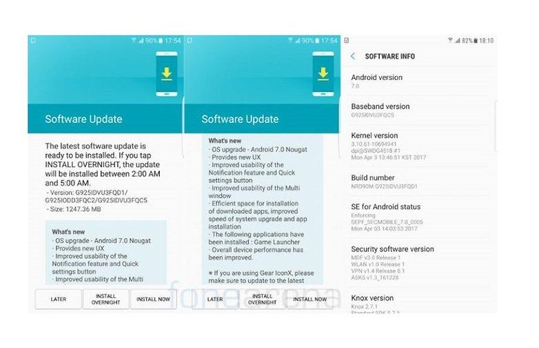 Samsung Galaxy S6 edge Android 7.0 Nougat India 768x455