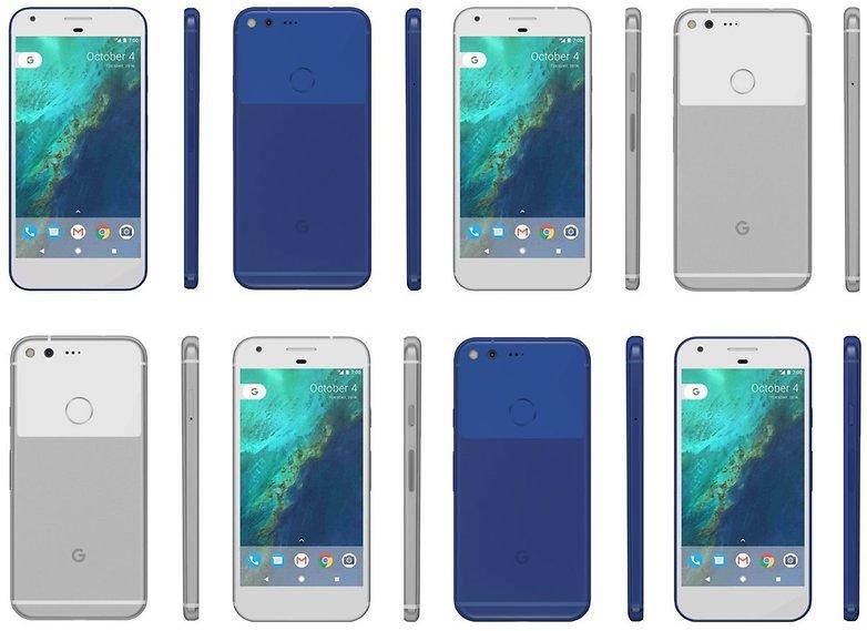 pixel blue Google Phone