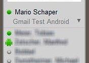 neue Funktion in GMail Labs - wer von meinen Chatpartner ist mit seinem Android-Device online