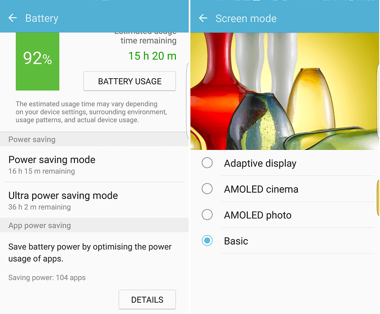 battery color s7