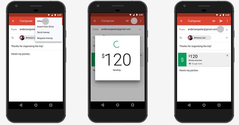gmail send money