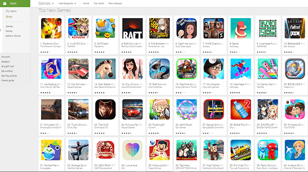 Google Play Top Games