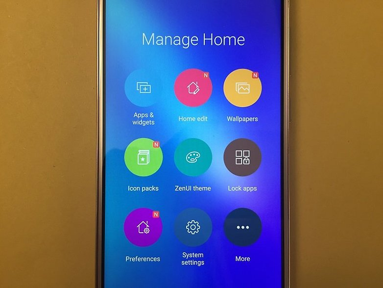 ZenFone 3 Manage Homescreen