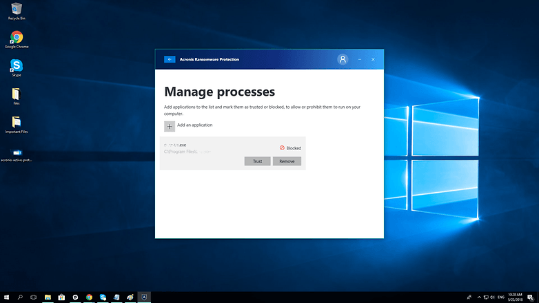 acronis blocked process
