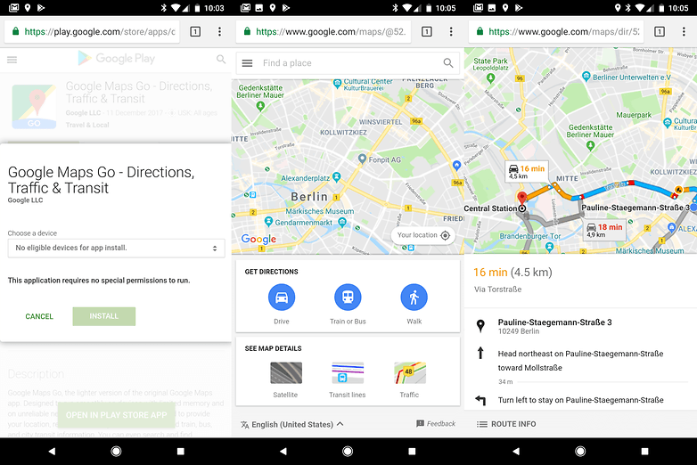 google maps go beta