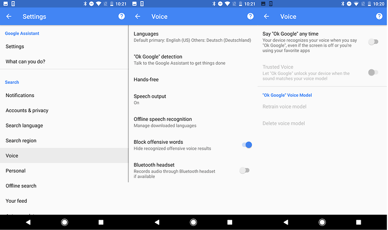 google voice retrain 3