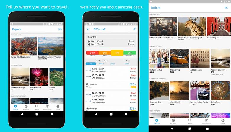 hitlist travel app screenshots