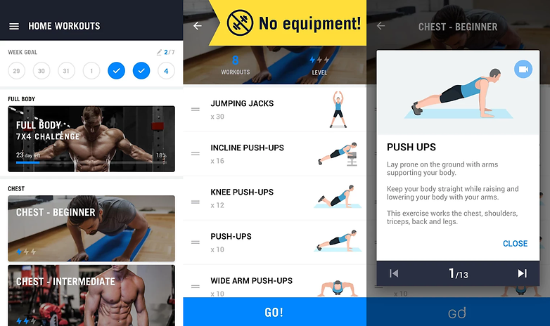 home workout no equipment app