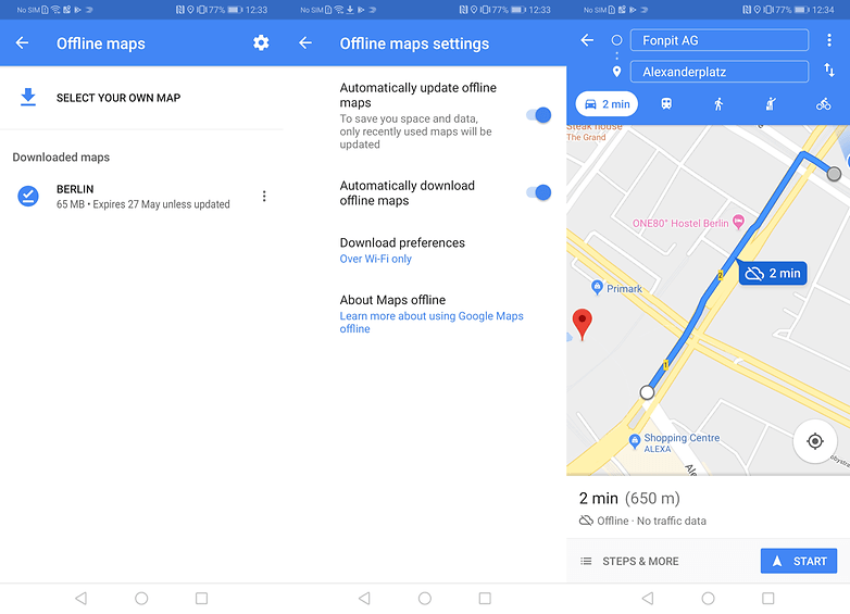 How to use Google Maps offline | AndroidPIT How To Use New Google Maps on