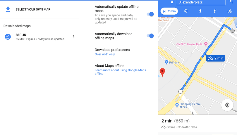 How to use Google Maps offline | AndroidPIT Save Map For Offline Use on print maps, facebook maps, service maps, online interactive maps, advertising maps,