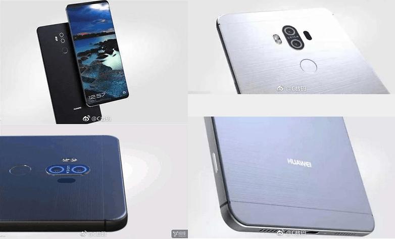 Huawei mate 10 primeiras imagens do Weibo