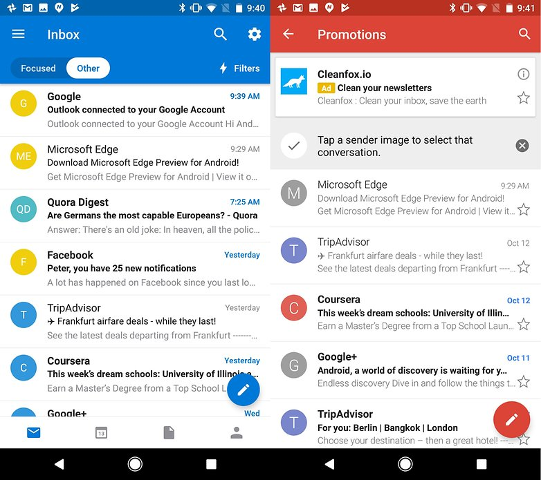microsoft google email outlook gmail