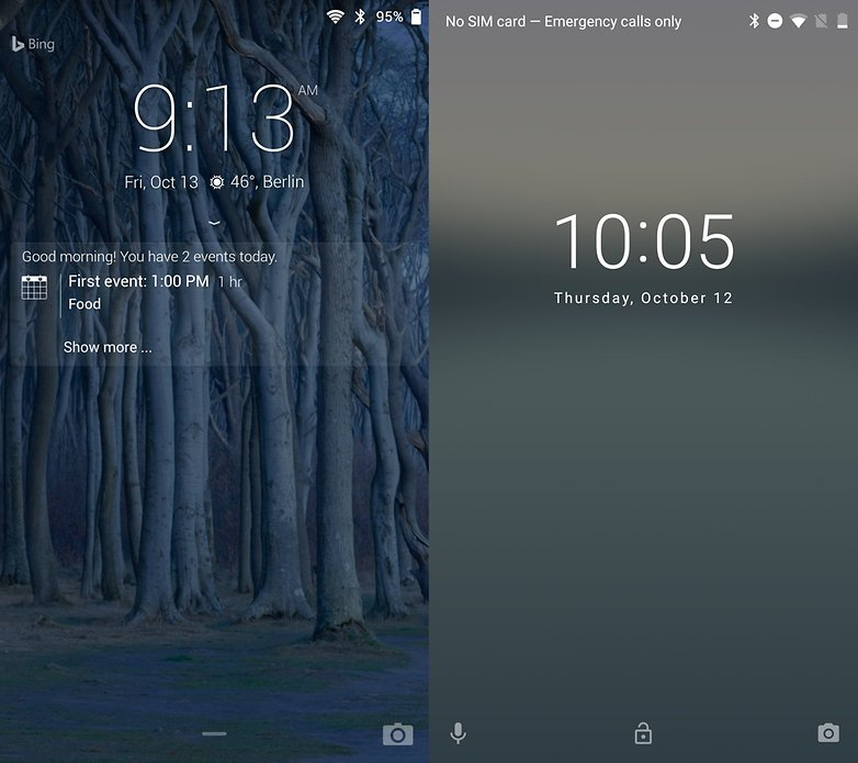 microsoft google lock screen next pixel