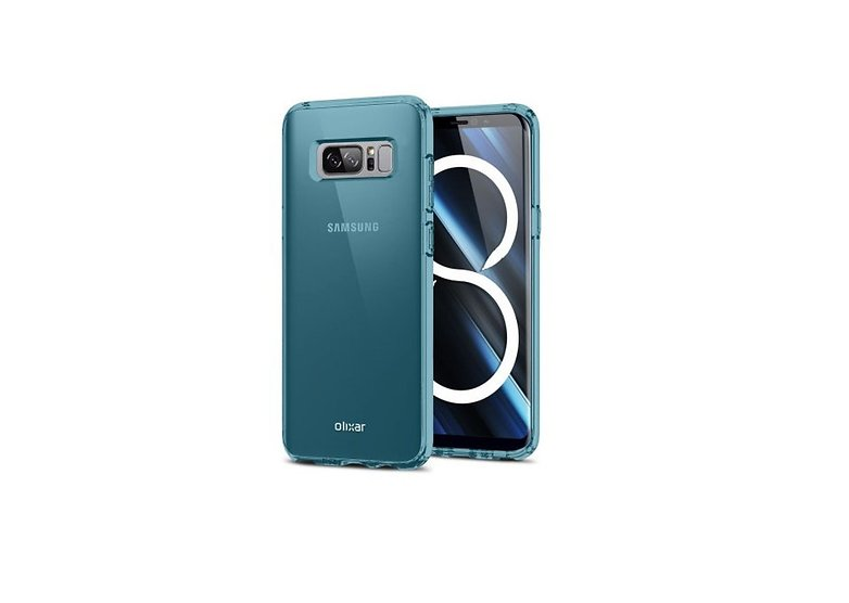 Olixar flexishield samsung galaxy note 8 caso de gel azul p64307 450