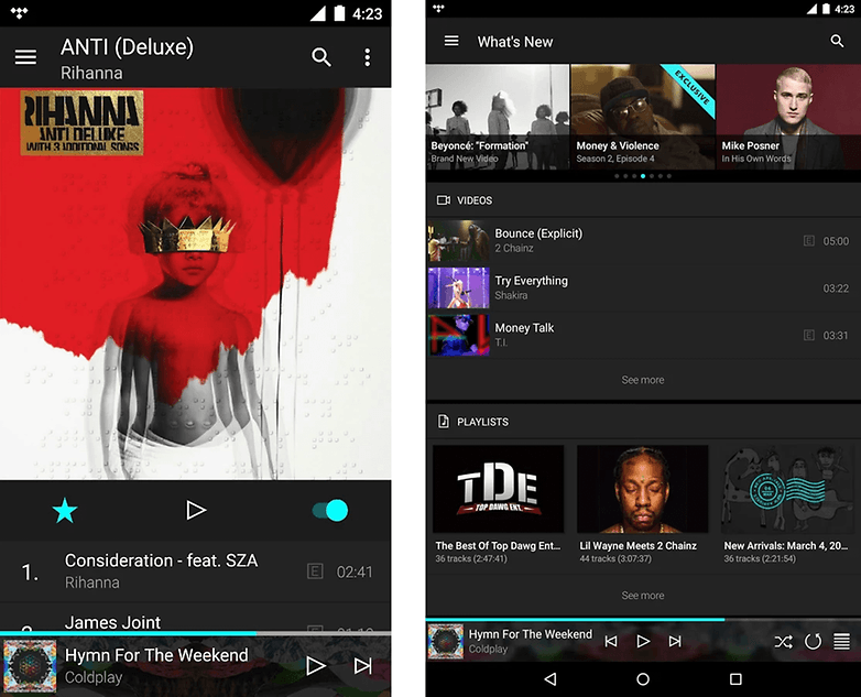 tidal screenshots google play