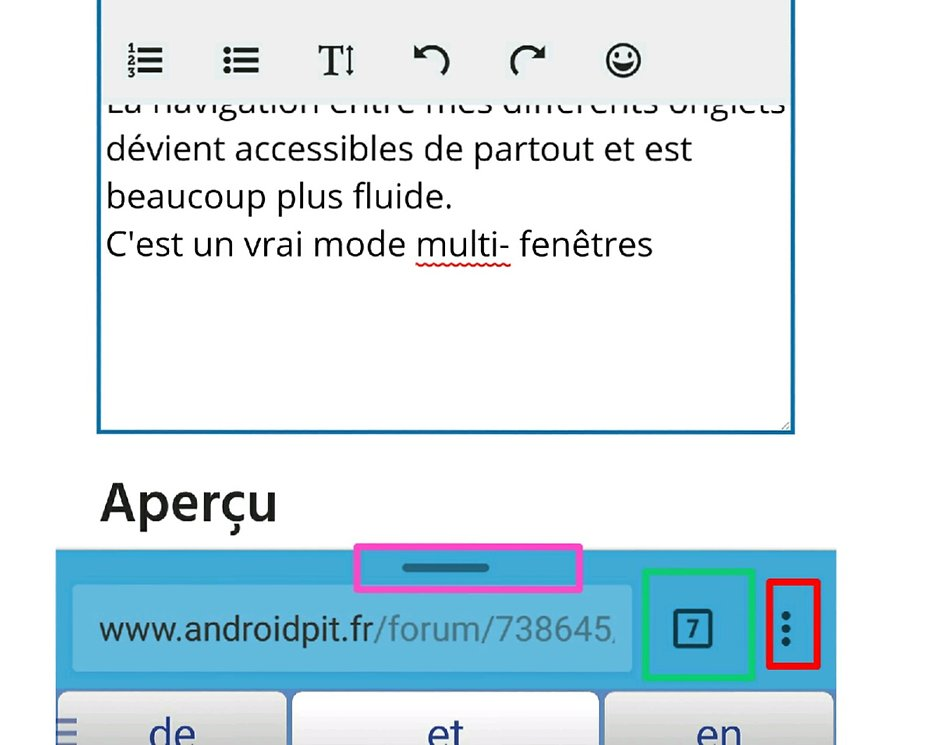 Chrome astuces et maj forum android androidpit for Multi fenetre android