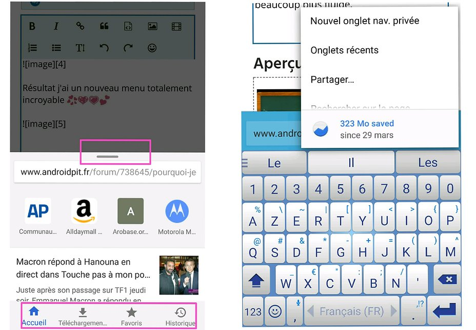 Chrome astuces et maj forum android androidpit for J ai ouvert ma fenetre