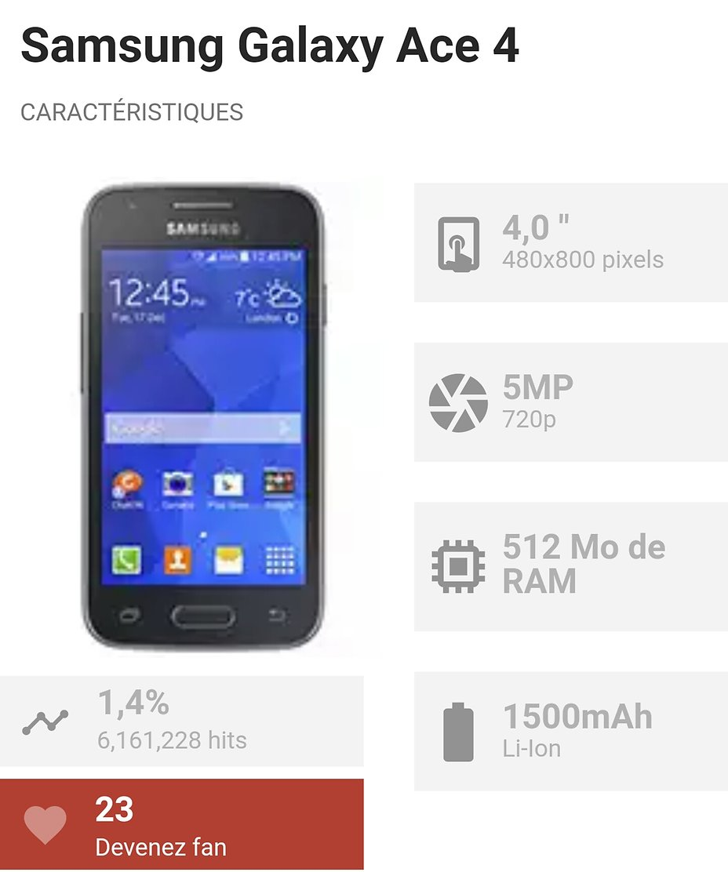 Donc Ton Smartphone Est Un Samsung Galaxy Ace 4