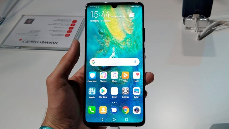 AndroidPIT Huawei Mate 20 X front