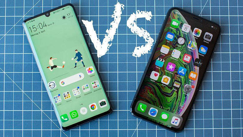 AndroidPIT apple iphone xs max vs huawei p30 pro