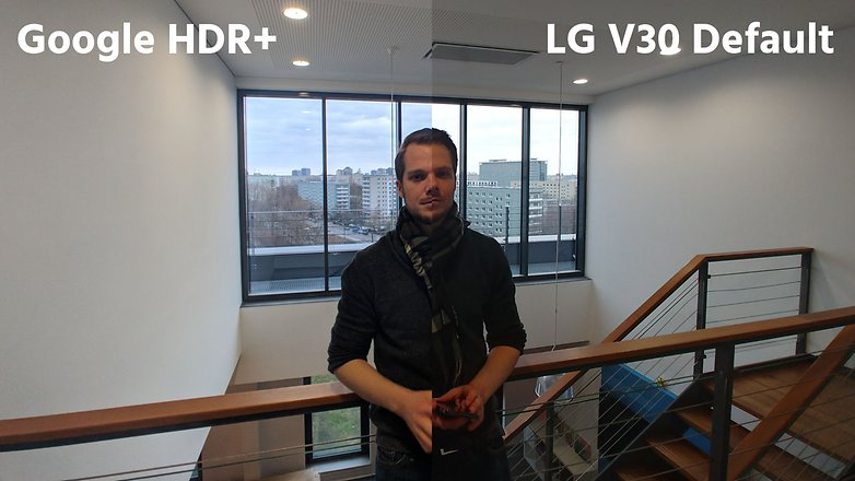 AndroidPIT lg v30 default app vs hdr plus