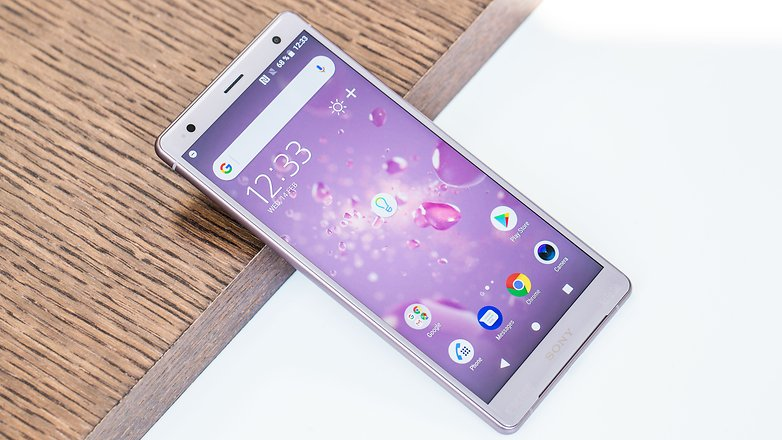 AndroidPIT sony xperia xz2 front iso h5c