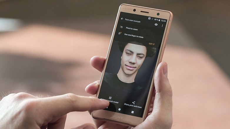 AndroidPIT Sony Xperia XZ2 Compact 3dscan F25 cc67