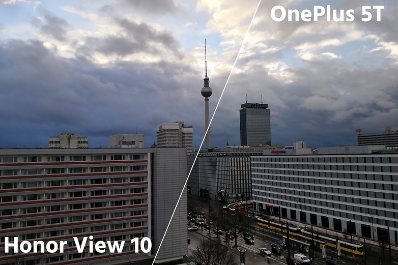 AndroidPIT oneplus 5t vs honor view 10 tv tower dynamic range