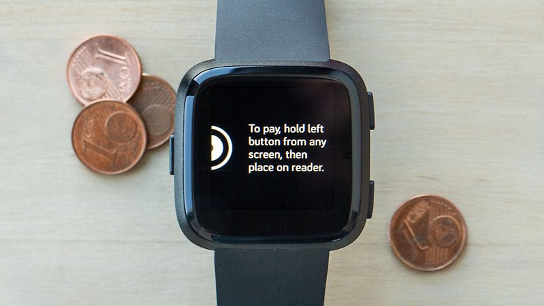 AndroidPIT fitbit versa mobile payment