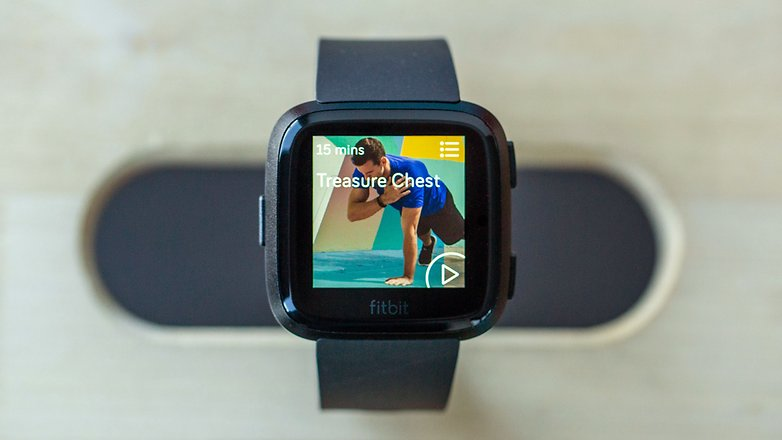 AndroidPIT fitbit versa workout