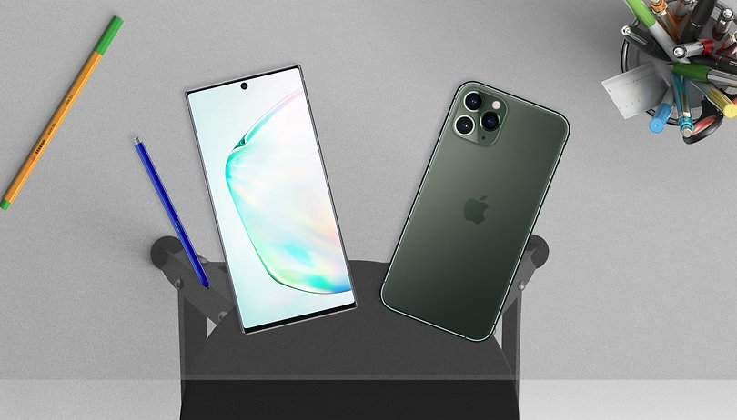 Apple 11 iPhone Pro Max vs. Samsung Galaxy Note 10+: Groß und stark