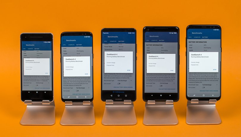 Smartphone-Akkutest: AndroidPIT sucht den Akku-König
