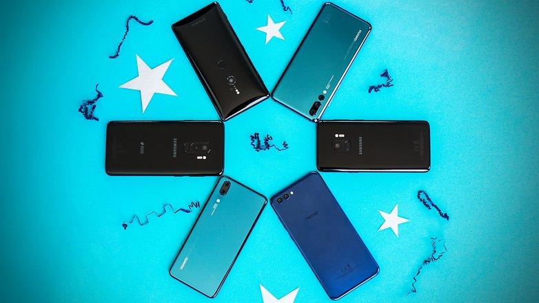 best smartphones 2018 back