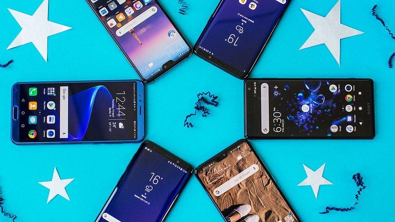 best smartphones 2018 front closeup