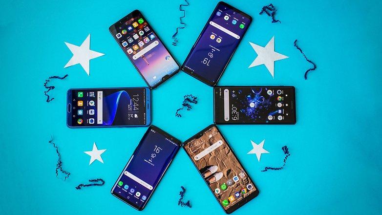best smartphones 2018 front