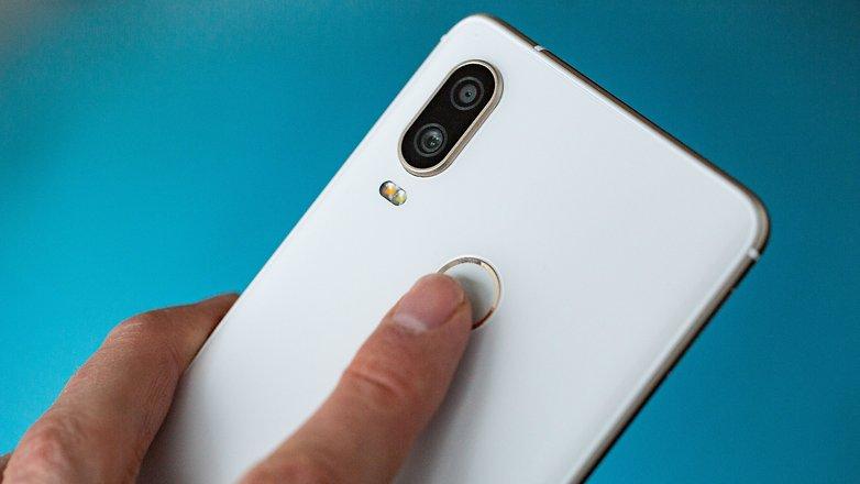 AndroidPIT bq aquaris x2 pro fingerprint