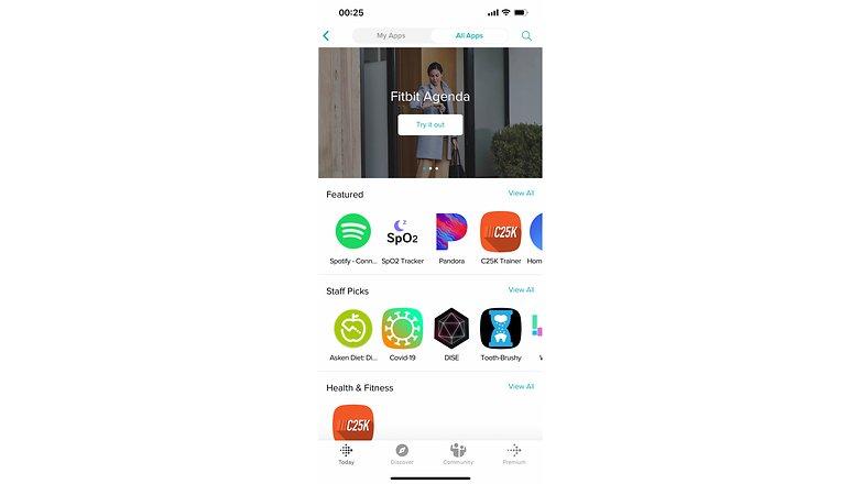 NextPit fitbit versa 3 screenshots apps